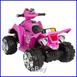 Kids Electric Car 12V Quad Ride On Toys For Girls Led Lights 4 Wheeler Pink New