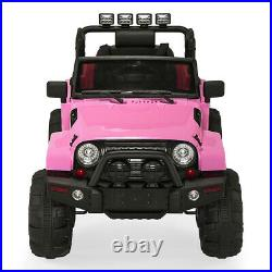 Kids Electric Truck- 4 Front LED Lights 12V Battery Powered Girl Ride On Car Toy