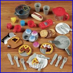 Kids Kitchen Playsets For Girls Boys Play Pretend Toy Cooking Set 26 Accesories