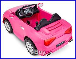 Kids Ride On Toy Car Pink Coupe 12V Electric 2 Seater for Toddler Children Girl