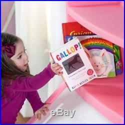 Kids Toy Storage Organizer For Girls With Bookshelf Bookcase Big Toys Box Chest