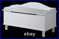 Kings Brand Furniture Applegate Storage Bench Toy Chest, White