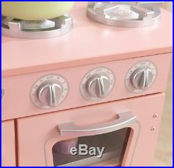 Kitchen Play Set For Girls Wooden Sturdy Construction Kids Pretend Cooking Toy