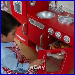 Kitchen Play Set For Kids Wooden Playset Toy Pretend Baker Cooking Girls Boys