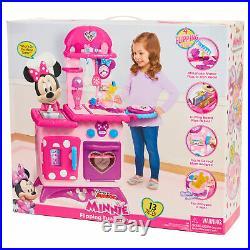 Kitchen Play Set Kids Minnie Mouse Girls Pretend Toys Pink Children Toddler NEW