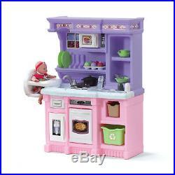 Kitchen Playset For Girls Pretend Play Refrigerator Toy Cooking Set Kids Toddler