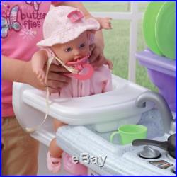 Kitchen Playset For Girls Pretend Play Refrigerator Toy Cooking Set Toddler Kids