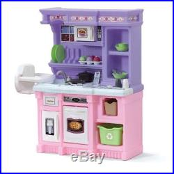Kitchen Pretend Playset Kids Toy with 30-piece Accessory Set for Girls Toddler