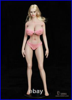 LDDOLL 1/6 28xl Girl Body Soft Silicone Bust Pink Skin Action Figure Fit KT Head