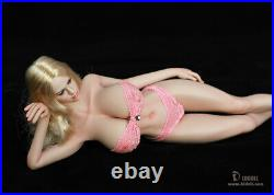 LDDOLL 1/6 28xl Girl Pink Skin Figure Soft Silicone Big Bust Body Fit KT Head