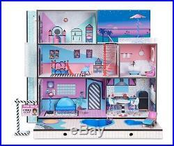 Lol Surprise Big Doll House Wooden Dollhouse Furniture Set Playset