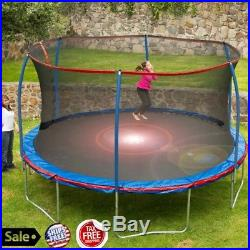 Large Pro Bounce Trampoline Bouncer Enclosure Protective Net For Kids Boy Girl