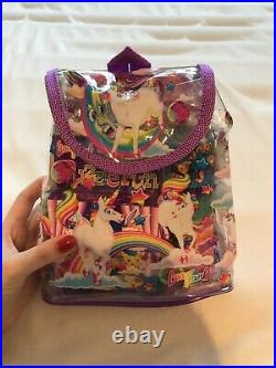 Lisa Frank Unicorn Plastic Backpack With Original Toys Never Been Used