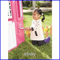 Little Tikes Princess Cottage Girls Kids Plastic Outdoor Playhouse Pink Age 2+