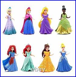 Magiclip Dolls MATTEL GENUINE x 8 Disney Princess Toys Anna Elsa Belle Ariel etc