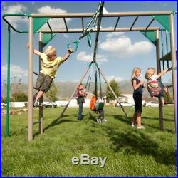 Metal Swing Set Outdoor Toys Boys Girls Slide Gym House Hobbies Activities Yard