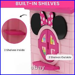Minnie Mouse Cottage Playhouse Patio Outdoor Indoor Play House Kids Girls Boys