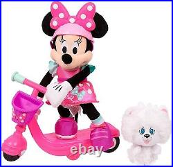 Minnie Mouse Sing & Spin Plush Scooter Brown Mailer Ages 3+ Toy Play Car Race