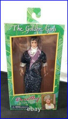 NECA The Golden Girls DOROTHY 8 Clothed Retro Figure NIB NEW Bea Arthur