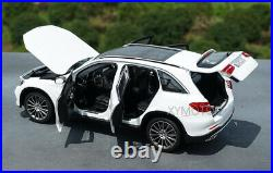 NEW 1/18 NOREV BENZ GLC Diecast Model Car Boys Girls Gifts Collection White