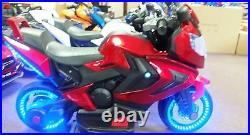 NEW LED 12V MOTOR CYCLE KIDS RIDE ON ELECTRIC SPORTS BIKE GIRLS, BOYS power wheel