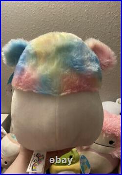 NWT Squishmallow Zaylee 8 Big Foot Yeti Girl Plush Zayley-Like Benny & Brina