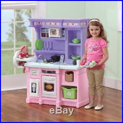 Play Kitchen with 30 Piece Accessory Set Kids Pretend Cooking Playset Toys Girls