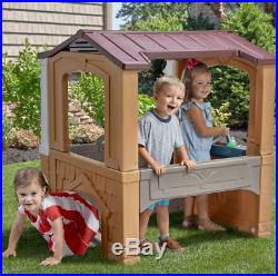 Playhouse For Kids Outdoor Plastic Toddlers Play House Boys Girls Fun Yard Toys