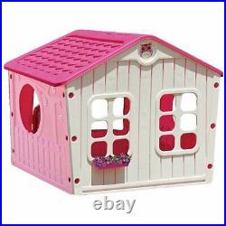Playhouse Outdoor Pink Girls Kids Play Tent House Children Yard Playground Home