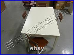 Pottery Barn Kids Activity toy CAMERON CRAFT play table desk 4 schoolhouse chair
