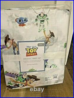 Pottery Barn Kids DISNEY pixar TOY story QUEEN sheet set