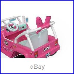 Power Wheels For Girls Jeep Kids Motorized Vehicles Minnie Mouse Car Ride On 12v
