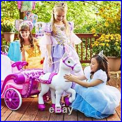 Power Wheels For Girls Ride On Toys Girl Carriage Pony 6V Riding Rideable Best