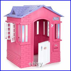 Princess Cottage Toy Playhouse Girls Toddlers Kids Pretend Pink Little Tikes New
