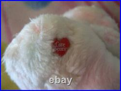 RARE 6 VINTAGE TRUE HEART COLOURED STAR CARE BEAR BABY BOY GIRL PLUSH 1980s TOY