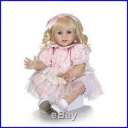 Realistic Silicone Reborn Toddlers Girl Blonde Hair 24 Toy Waiting for Adoption