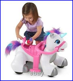 Rideamals Unicorn 6-Volt Ride-On Toy Kid Trax Girls Playtime Fun Battery New