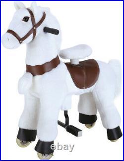 SMALL GiddyUp Ride Horse RideOn ALL WHITE Ages 2-5 Boys/Girls 01C USA SHIPPER