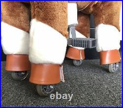 SMALL GiddyUp Ride Horse RideOn BROWN/WHITE Ages 2-5 Boys/Girls 01E USA SHIPPER
