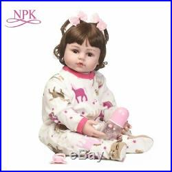 Silicone Reborn Baby Dolls Reborn Babies Toys For Children 60cm Dolls For Girls