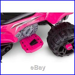 Sport ATV Quad 12V Fits Two Battery Powered Ride On Pink Toy Car for Kids Girls