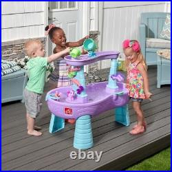 Step2 Rain Showers Unicorns Water Table, Kids Girl Outdoor Play Activity Toys