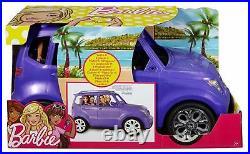 Stylish Barbie Doll 4 Seater JEEP SUV CAR Sparkly Purple Girls Playset Kids Toy