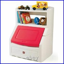TOY STORAGE BOX Kids Chest Bin Bookcase Organizer Chest Child Playroom Red New