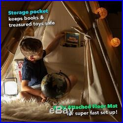 Teepee Play Tent for Kids by Canicove Tipi for Boys and Girls Award Winning