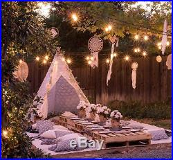 Tiny Land Luxury Lace Teepee Tent for Girls Adults (XX-Large 7 Tall) 5-Poles
