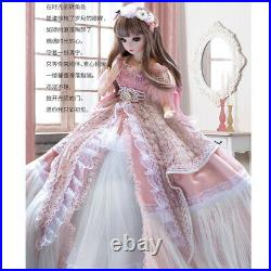 US FAST 1/3 BJD Doll Ball Jointed Girl Eyes Face Makeup Wig Clothes Full Set Toy