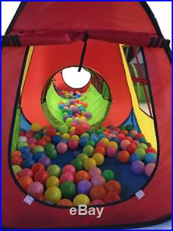 UTEX 8 in 1 Pop Up Children Play Tent House with 4 Tunnel, 4 Tents for Boys, Girls