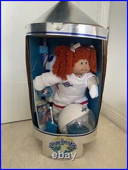 VTG Cabbage Patch Kids Young Astronaut Red Hair Girl Kellie Emmy Doll Toy RARE
