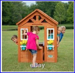 Wooden Play House For Kids Children Girls Boys Outdoor Pretend Backyard PlaySet